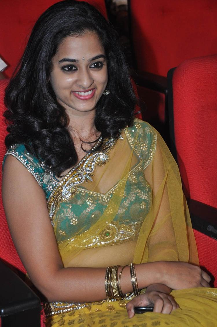 Nandita In Saree Sexy Look At Prema Katha Chitram Audio Release Function