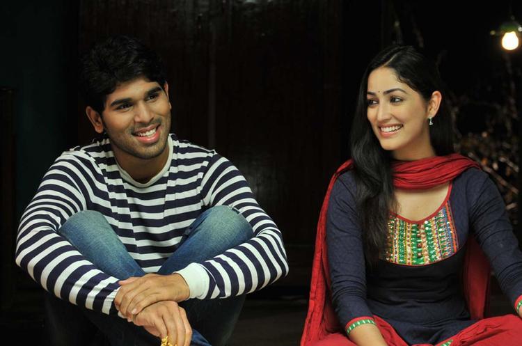 Sirish And Yami Cute Smiling Photo Still From Movie Gouravam