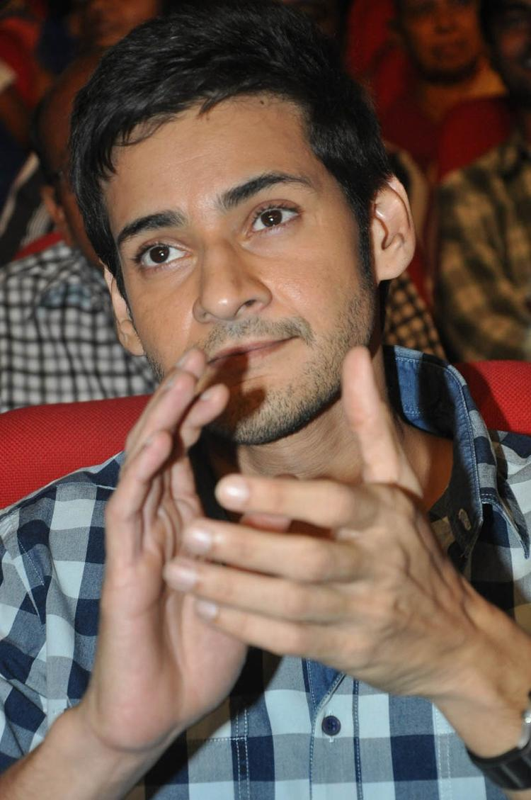 Mahesh Clapping Photo Still At Premakadha Chitram Audio Release