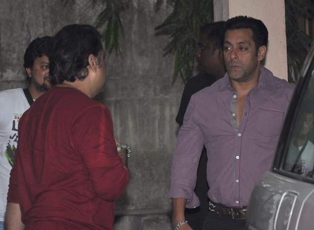Govinda And Salman Snapped At Mahesh Manjrekar Film Screening Event