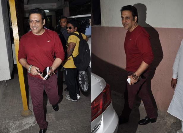 Govinda Smiling Look During The Screening Of Mahesh Manjrekar Film