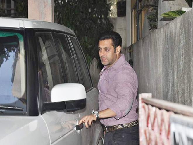 Salman Khan Spotted At Mahesh Manjrekar Film Screening Event