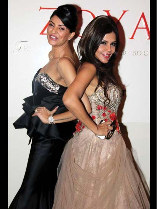 Sushmita Sen And Nisha Jamwal Strike A Fashionable Pose At Launch of Zoya Jewels Of The Crown Jewellery Line