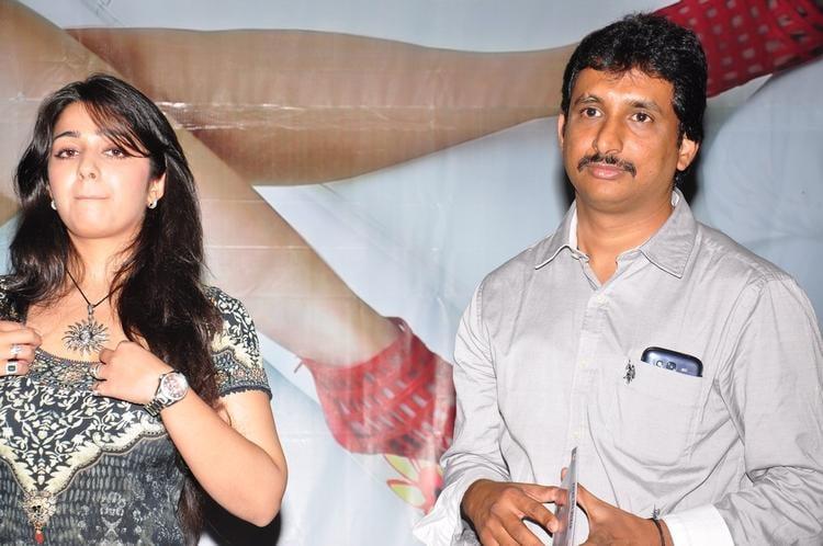 Charmy Kaur And Srinu Vaitla Present At Prema Oka Maikam Movie Audio Release Function