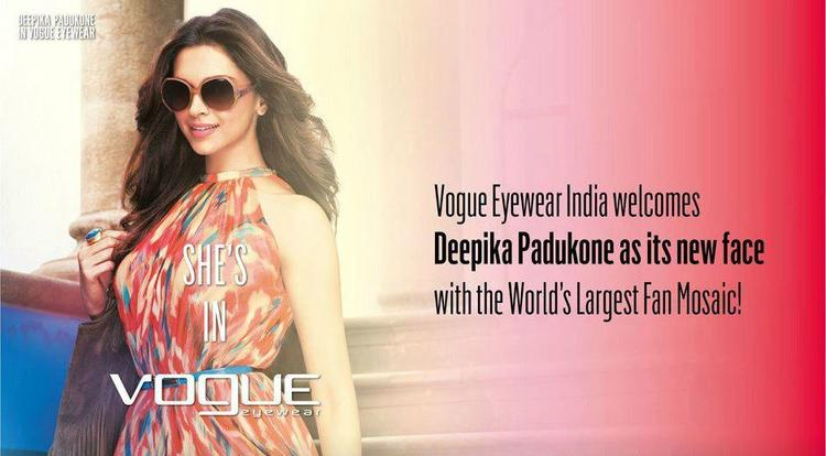 Deepika Padukone Glamour Look In Vogue Eyewear