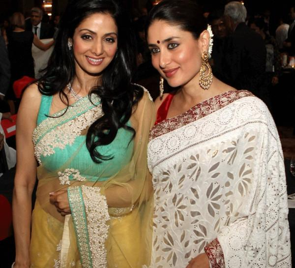 Kareena And Sridevi Looked Gorgeous In Saree At NDTV Indian Of The Year Award Function