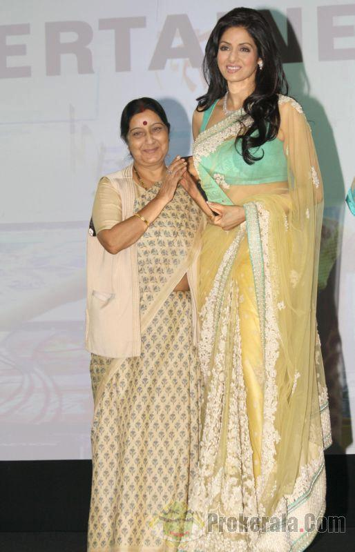 Sridevi And Sushma Snapped At The NDTV Indian Of The Year Award Function