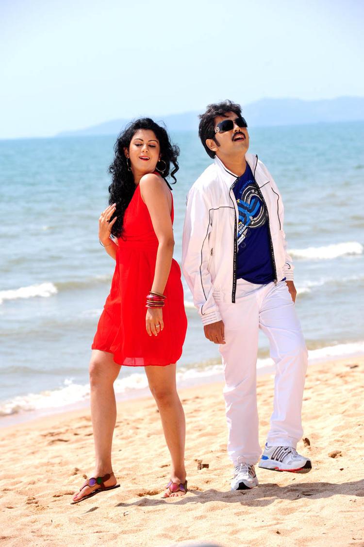 Kamalakar And Kamna Beach Dance Photo Still From Movie Band Balu