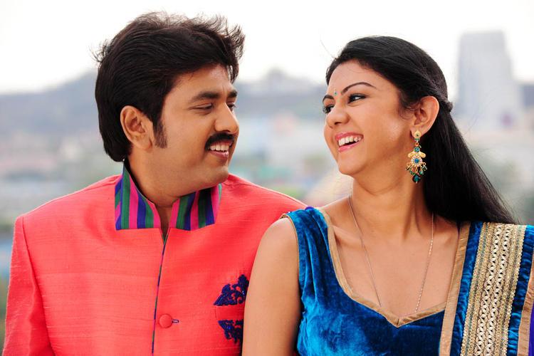 Kamalakar And Kamna Cute Smiling Photo Still From Movie Band Balu
