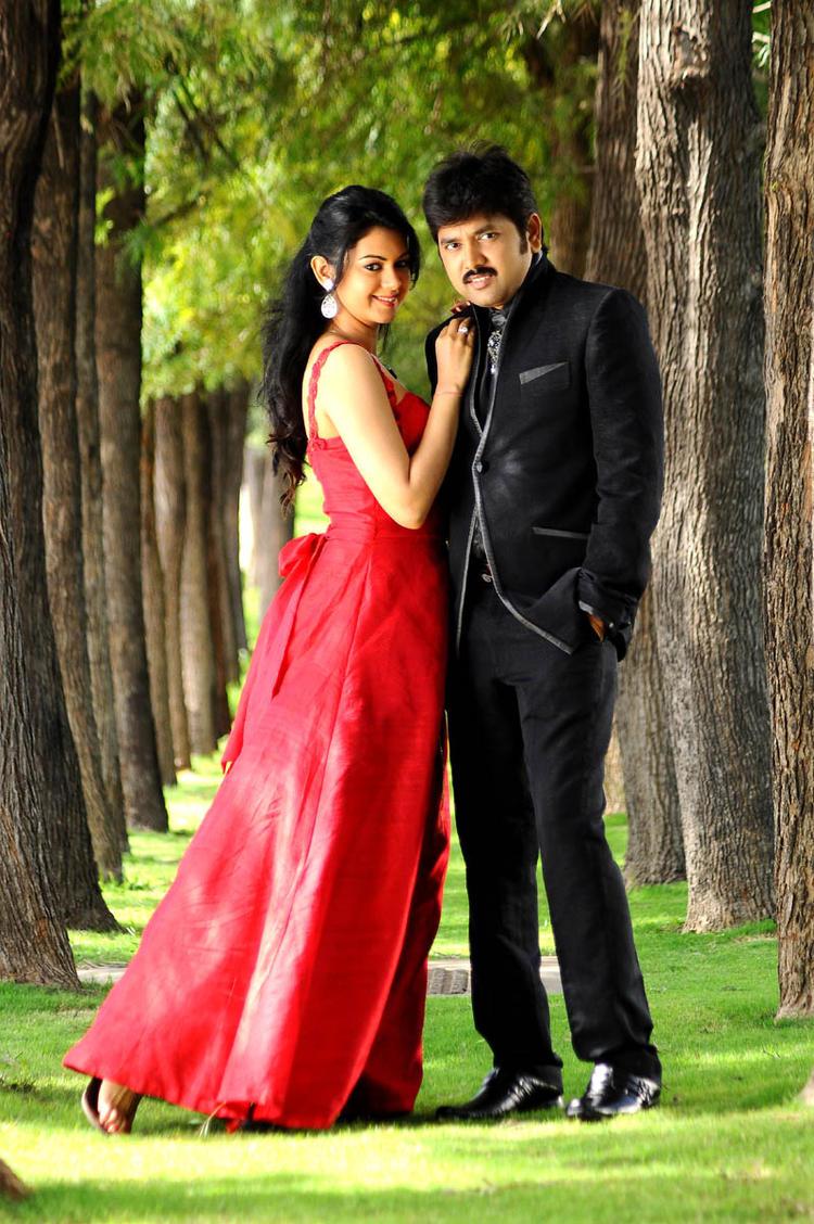 Kamalakar And Kamna Gorgeous Look Photo Still From Movie Band Balu