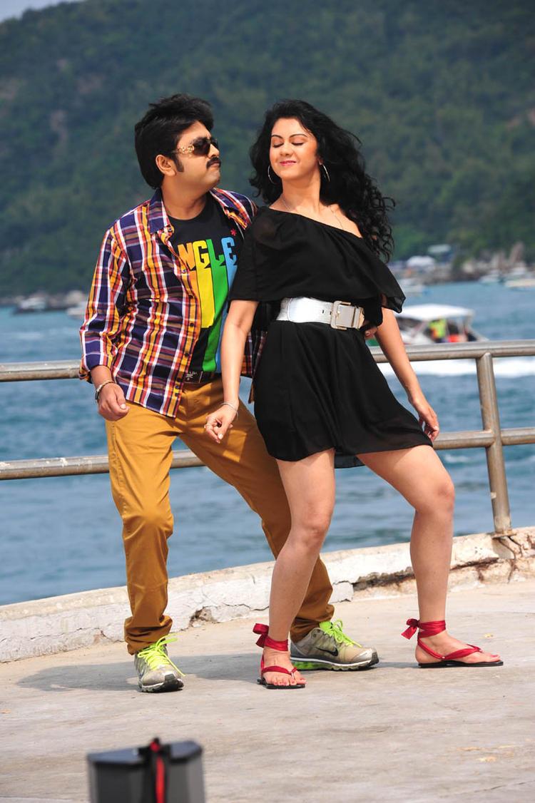 Kamalakar And Kamna Sexy Dance Photo Still From Movie Band Balu
