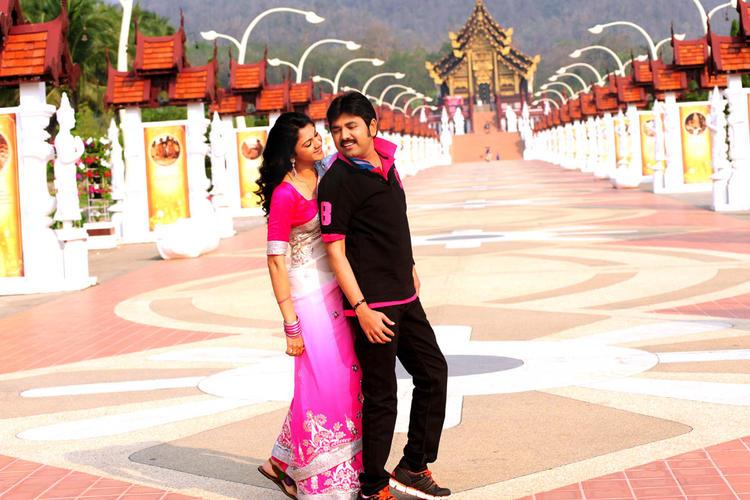 Kamalakar And Kamna Song Photo Still From Movie Band Balu