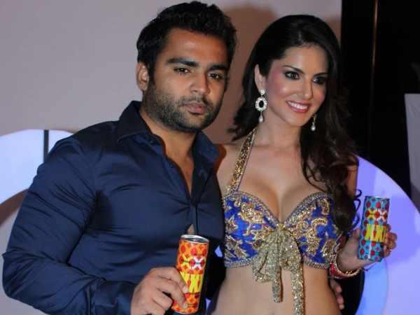 Sachiin And Sunny During The Shoot Of Sachiin J Joshi's XXX Energy Drink