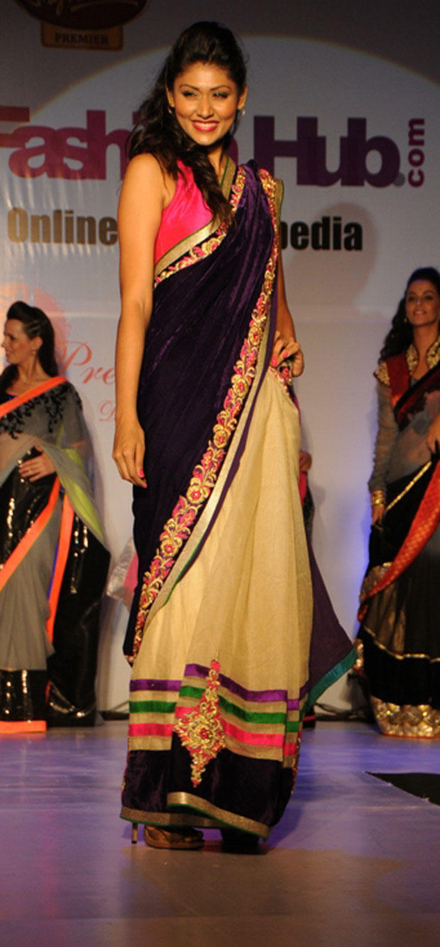A Hot Model On Ramp At Grand Fashion Hub Website Launch
