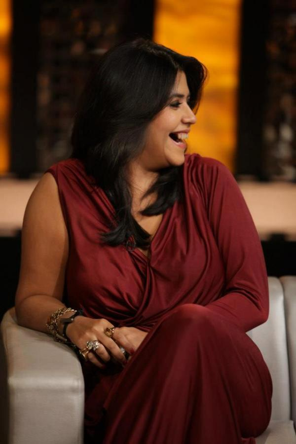 Ekta Kapoor Smiling Look At On The Front Row Show