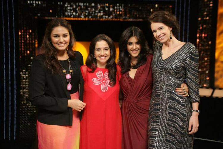 Huma,Anupama,Ekta And Kalki Posed For Camera On The Front Row Show