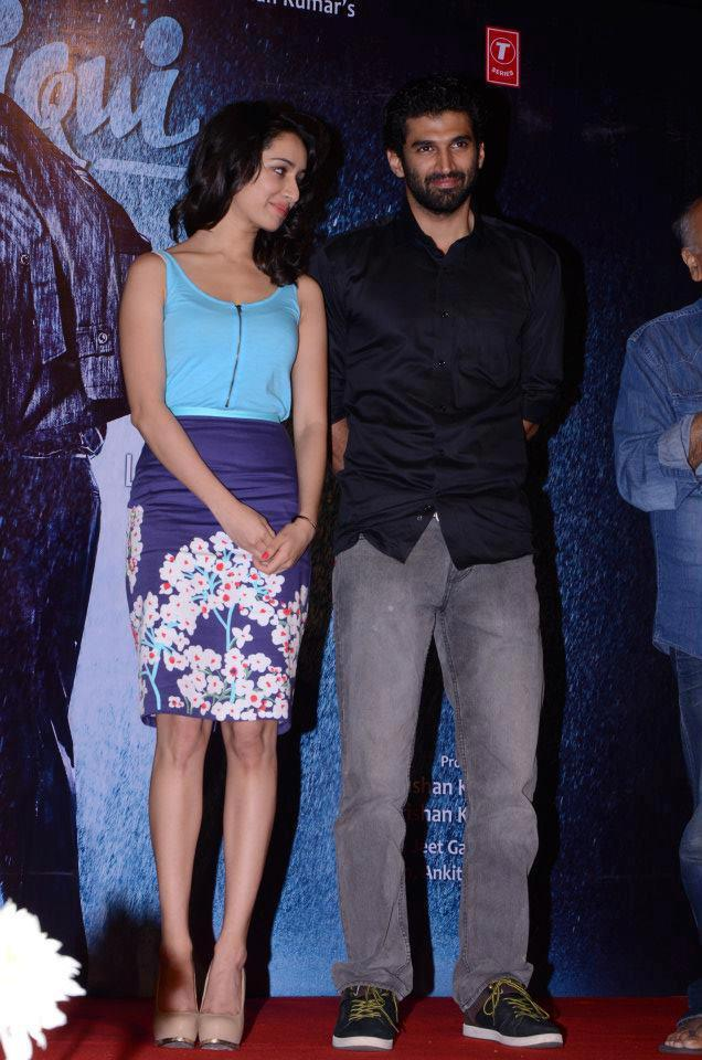 Shraddha And Aditya Clicked At Aashiqui 2 Movie Music Launch Event