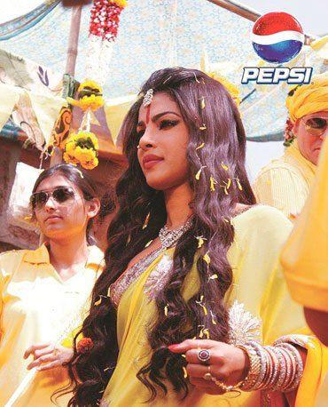 Priyanka Chopra Nice Look On The Sets Of Pepsi Ad