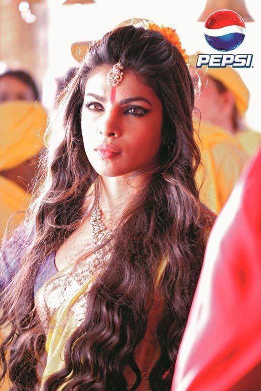 Priyanka Chopra Traditional Look On The Sets Of Pepsi Ad