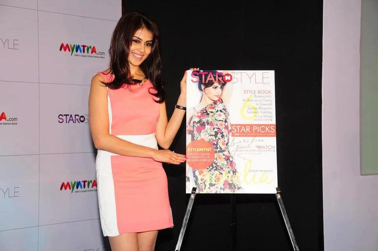 Genelia Posed For Camera At 3rd Edition Of Star N Style Launch