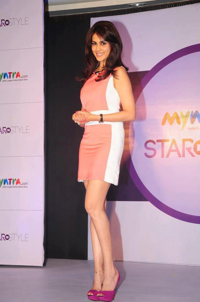 Genelia Strikes A Smiling Pose At 3rd Edition Of Star N Style Launch