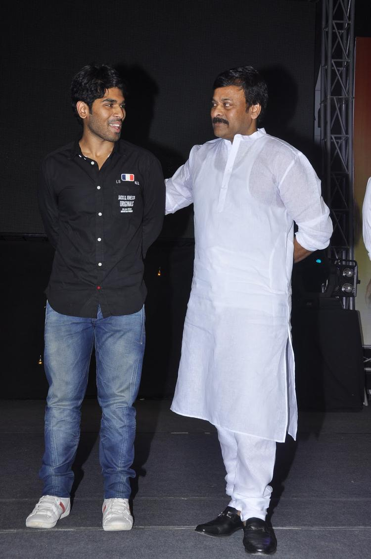 Chiranjeevi And Allu Sirish Spotted To Promote Movie Gouravam