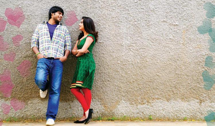 Sandeep And Dimple Exclusive Love Gossip Photo Still From Movie Yaaruda Mahesh