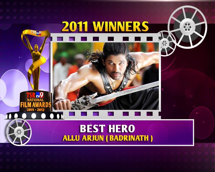 Allu Arjun Is The Winner Of Best Hero For Badrinath Movie