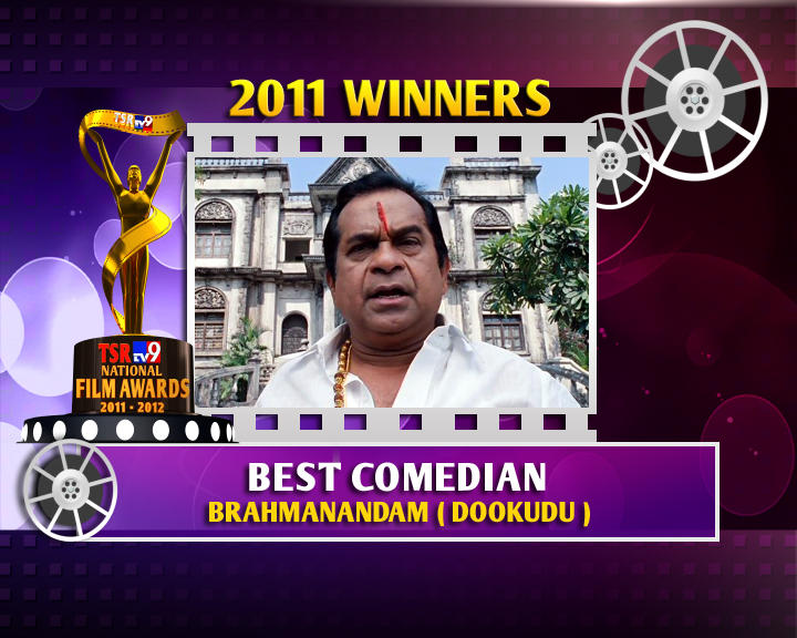 Brahmanandam Is The Winner Of Best Comedian For Dookudu Movie