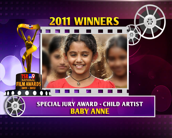 Child Actress Baby Annie Winner Of The Special Jury Award In TSR TV9 Awards 2011