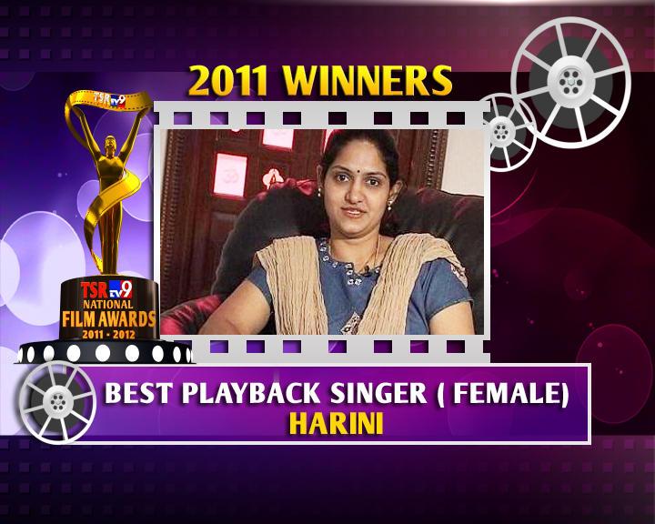 Harini Is The Winner Of Best Playback Female Singer