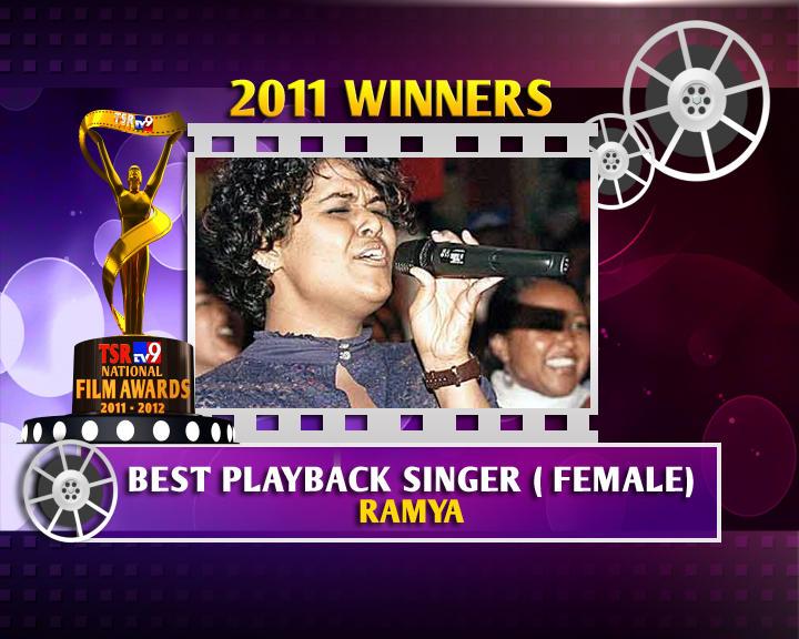 Singer NS Ramya Is The Winner Of Best Female Playback Singer In TSR TV9 Awards 2011