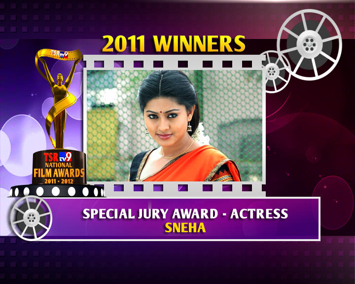 Sneha Is The Winner Of Special Jury Award For Actress