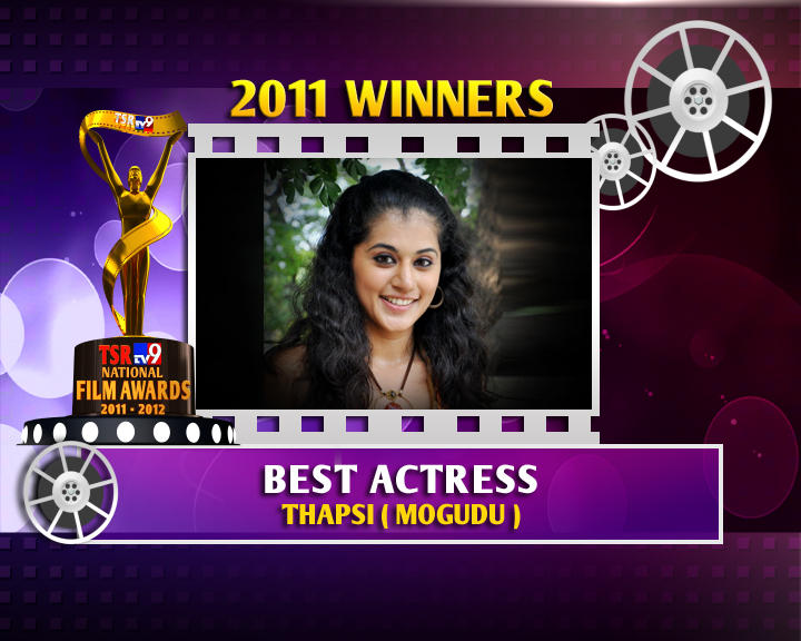 Taapsee Pannu Is The Winner Of Best Actress For Mogudu Movie