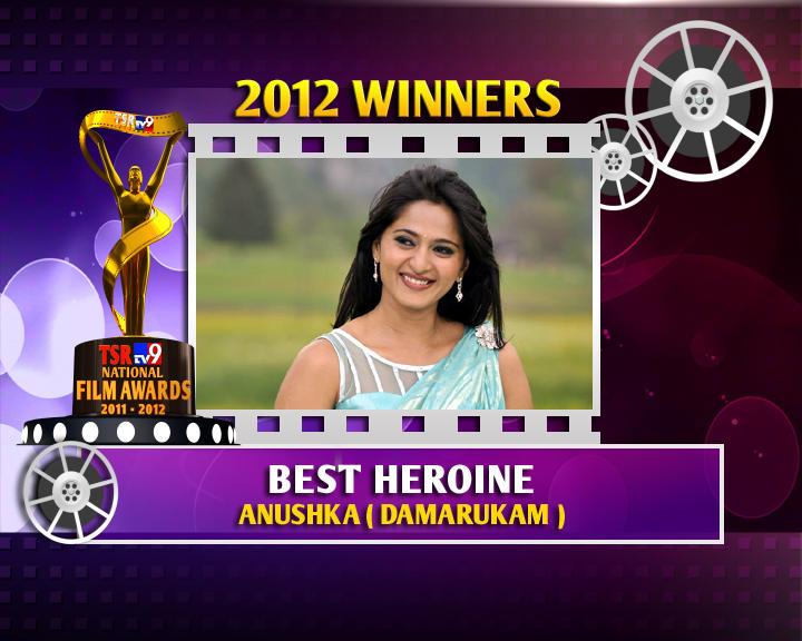 Anushka Shetty Is The Winner Of Best Heroine For Damarukam Movie