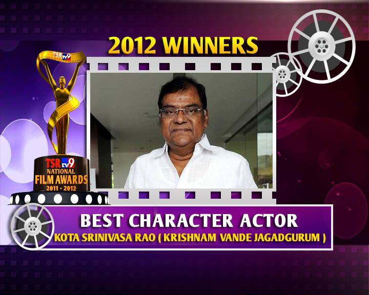 Kota Srinivasa Rao Is The Winner Of Best Character Actor For Krishnam Vande Jagadgurum Movie
