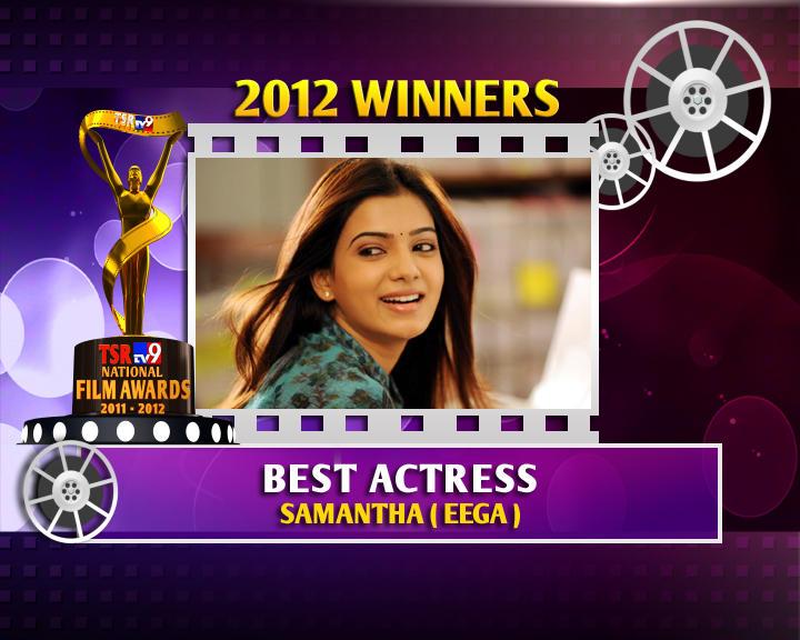 Samantha Ruth Prabhu Is The Winner Of Best Actress For Eega Movie