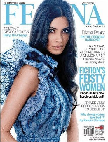 Diana Penty Sexy Look Photo On The Cover Of Femina India May Issue