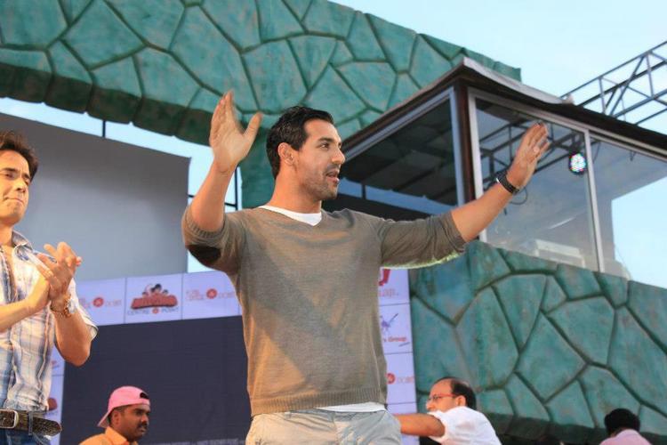 John Abraham Photo Clicked At Jaipur During Promotion Of Shootout At Wadala