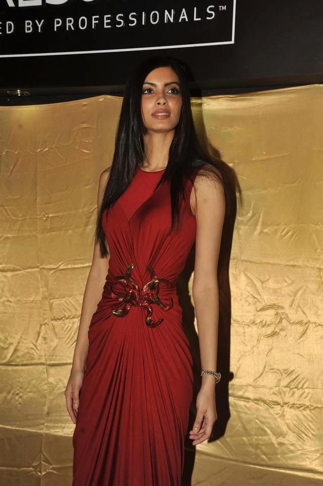 Diana Penty Sey Look In Red Gown At The Launch Of TRESemme Hair Care Products