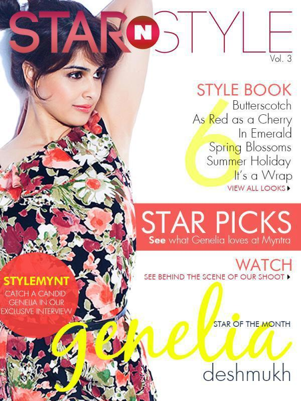 Genelia D'Souza Graced On The Cover Of Myntra Star N Style Magazine April 2013