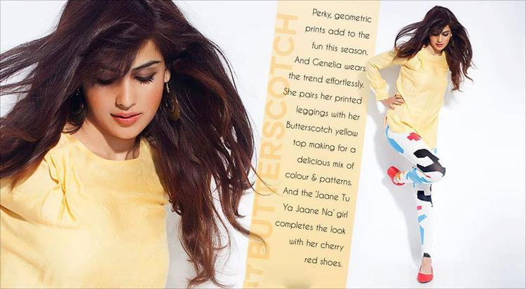Genelia D'Souza Trendy Look In Flaunt Hair Style Look For Myntra Star N Style Magazine April 2013