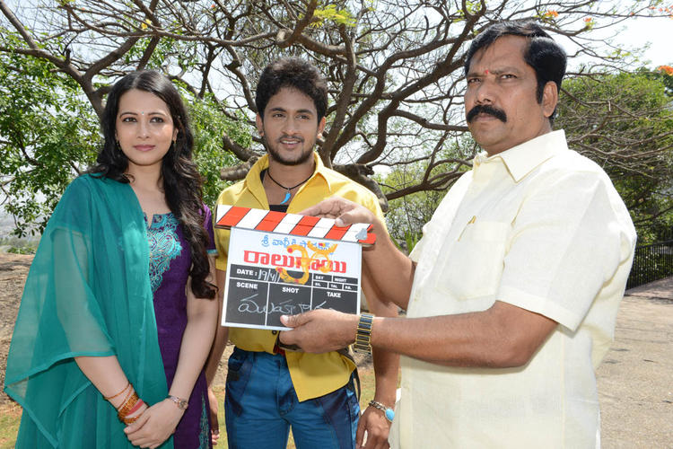 Manoj And Megha Present At Ralugayi Movie Opening Event