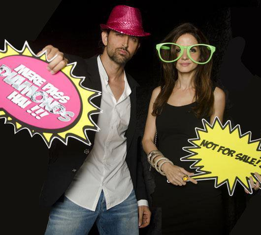 Hrithik Roshan With Wife Suzanne Roshan Funny Photo At Farah Khan Ali Post Launch Party