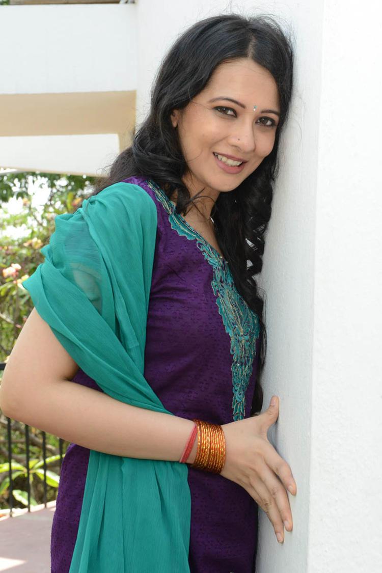 Megha Barman Beautiful Look At Ralugayi Movie Opening Event
