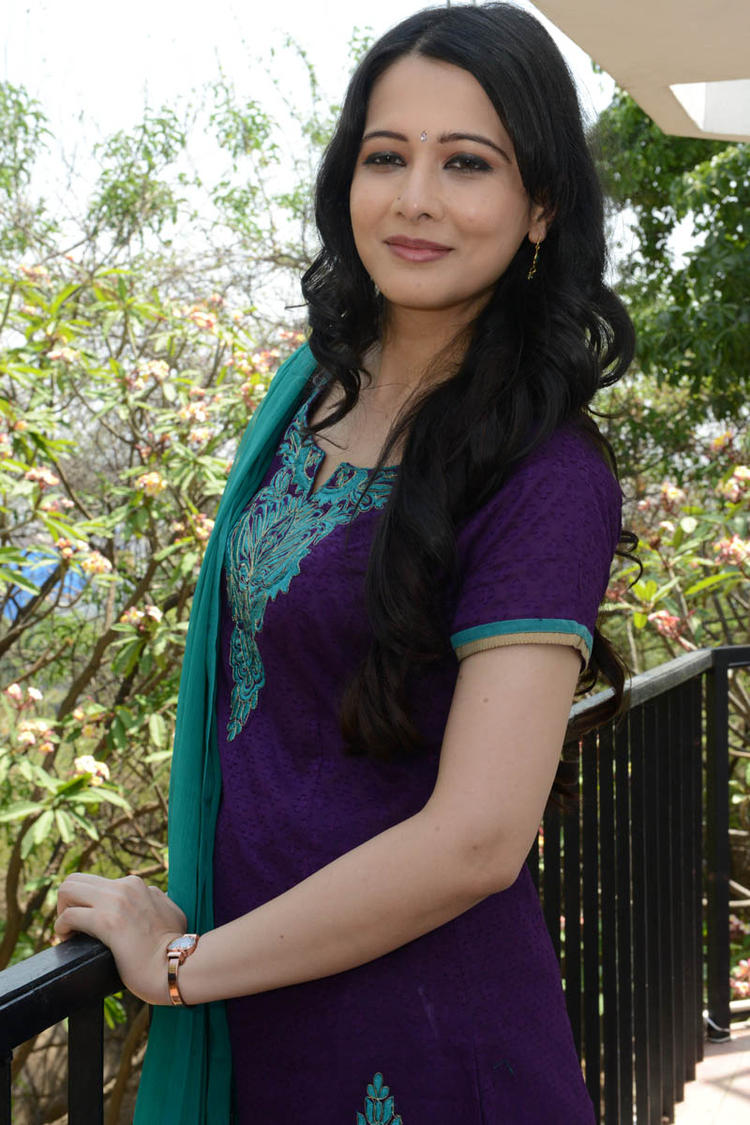 Megha Barman Posed For Camera At Ralugayi Movie Opening Event