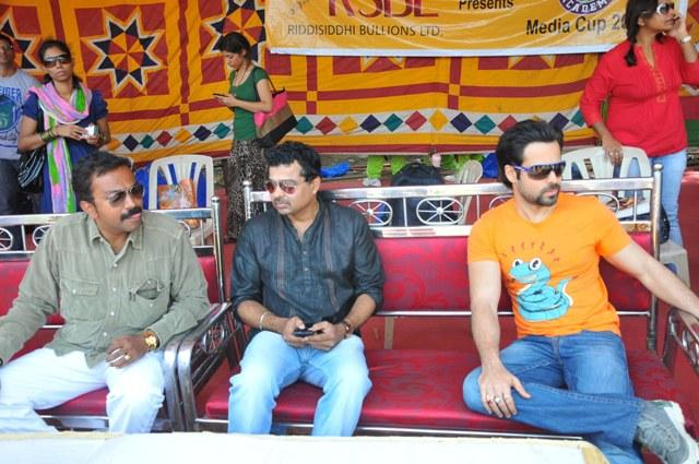 Emraan HMake An Appearance At Media Cup Cricket Tournament