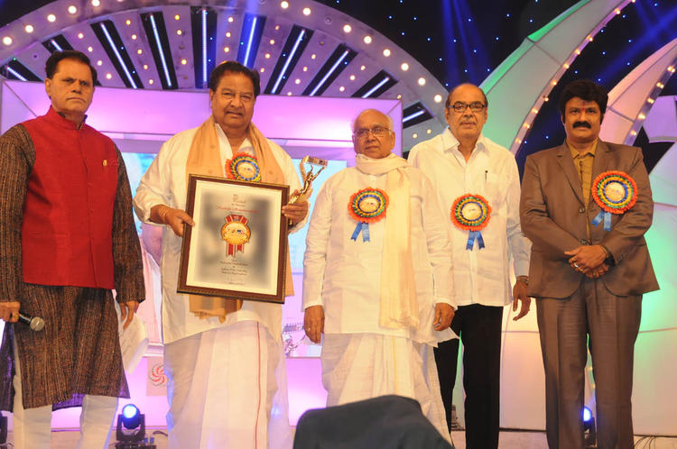 Akkineni Nageswara Rao,T. Subbarami Reddy And Others Graced At TSR-TV9 National Film Awards 2011-2012 Presentation Function