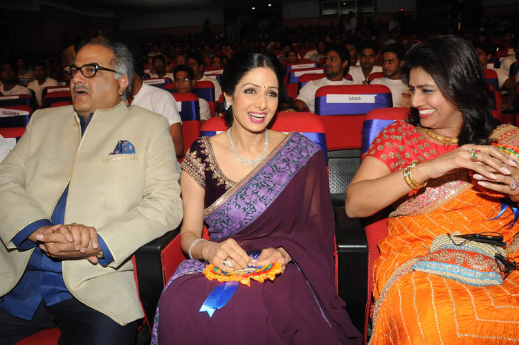 Boney With Wife Sridevi And Pinky Cool Gossip Look At TSR-TV9 National Film Awards 2011-2012 Presentation Function