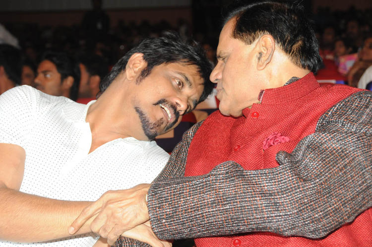 Nagarjuna And T. Subbarami Reddy Chatting Look At TSR-TV9 National Film Awards 2011-2012 Presentation Function
